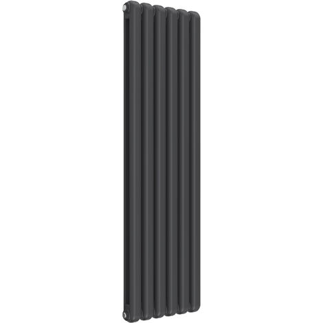 Reina Coneva Steel Anthracite Vertical Designer Radiator 1500mm x 440mm - Central Heating