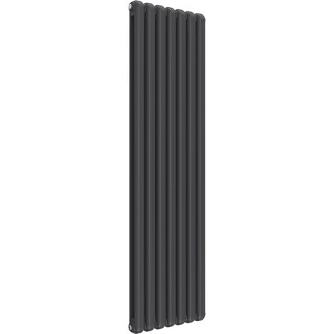 Reina Coneva Steel Anthracite Vertical Designer Radiator 1800mm x 510mm - Central Heating