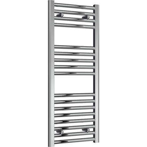Reina Diva Chrome Straight 25mm Ladder Heated Towel Rail 1000mm x 400mm Central Heating