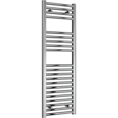 Reina Diva Chrome Straight 25mm Ladder Heated Towel Rail 1200mm x 400mm Central Heating