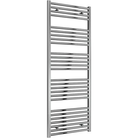 Reina Diva Chrome Straight 25mm Ladder Heated Towel Rail 1600mm x 600mm Central Heating