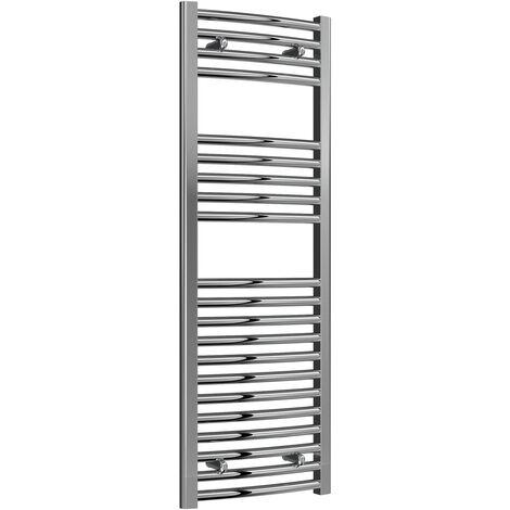Reina Diva Curved Heated Towel Rail 1200mm H x 400mm W Chrome