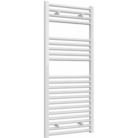 Reina Diva Electric Straight Heated Towel Rail 1200mm H x 500mm W White