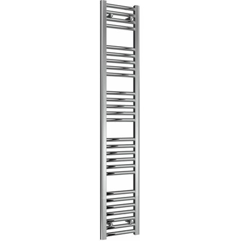 Reina Diva Electric Straight Heated Towel Rail 1600mm H x 300mm W Chrome
