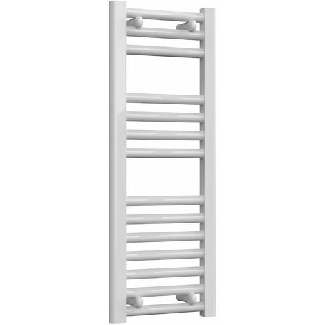 Reina Diva Electric Straight Heated Towel Rail 800mm H x 300mm W White