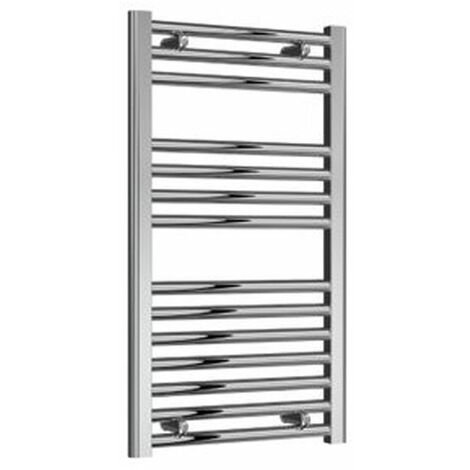 Reina Diva Electric Straight Heated Towel Rail 800mm H x 450mm W Chrome