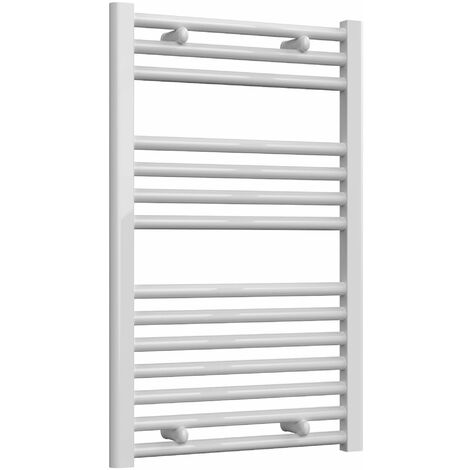 Reina Diva Electric Straight Heated Towel Rail 800mm H x 500mm W White