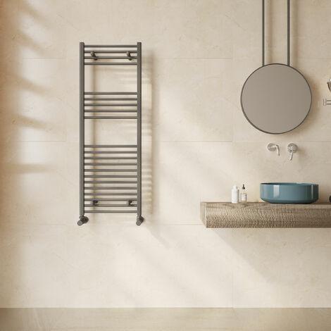Reina Diva Flat Heated Towel Rail 1200mm H x 400mm W Anthracite