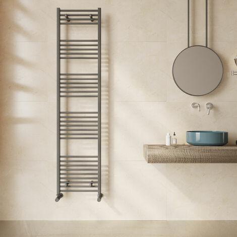 Reina Diva Flat Heated Towel Rail 1800mm H x 400mm W Anthracite