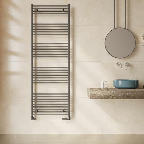 Reina Diva Flat Heated Towel Rail 1800mm H x 600mm W Anthracite