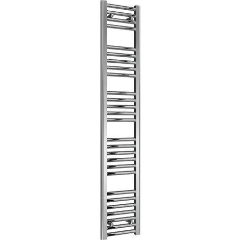 Reina Diva Steel Straight Chrome Heated Towel Rail 1600mm x 300mm Central Heating