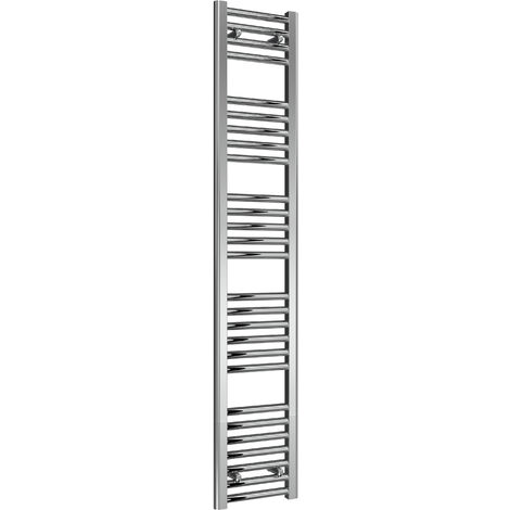Reina Diva Steel Straight Chrome Heated Towel Rail 1600mm x 300mm Electric Only - Thermostatic