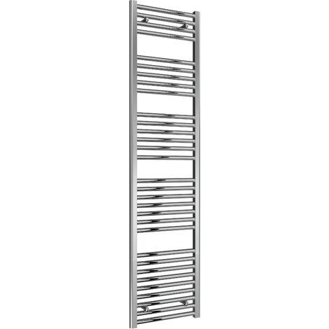 Reina Diva Steel Straight Chrome Heated Towel Rail 1800mm x 450mm Electric Only - Standard