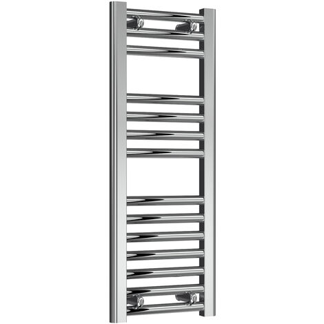 Reina Diva Steel Straight Chrome Heated Towel Rail 800mm x 300mm Electric Only - Standard