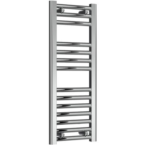 Reina Diva Steel Straight Chrome Heated Towel Rail 800mm x 300mm Electric Only - Thermostatic