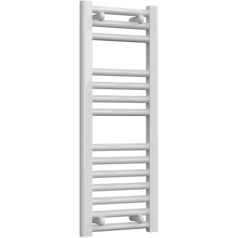 Reina Diva Steel Straight White Heated Towel Rail 800mm x 300mm Electric Only - Thermostatic