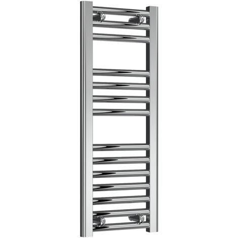 Reina Diva Straight Heated Towel Rail 800mm H x 300mm W Chrome