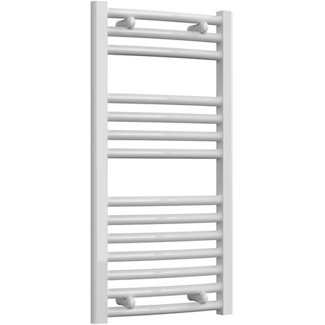 Reina Diva Thermostatic Electric Curved Heated Towel Rail 800mm H x 400mm W White