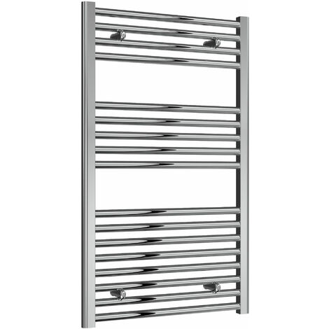 Reina Diva Thermostatic Electric Straight Heated Towel Rail 1000mm H x 600mm W Chrome