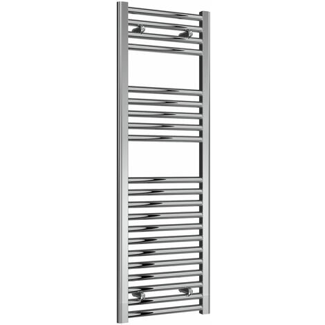 Reina Diva Thermostatic Electric Straight Heated Towel Rail 1200mm H x 400mm W Chrome