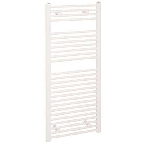 Reina Diva Thermostatic Electric Straight Heated Towel Rail 1200mm H x 450mm W White