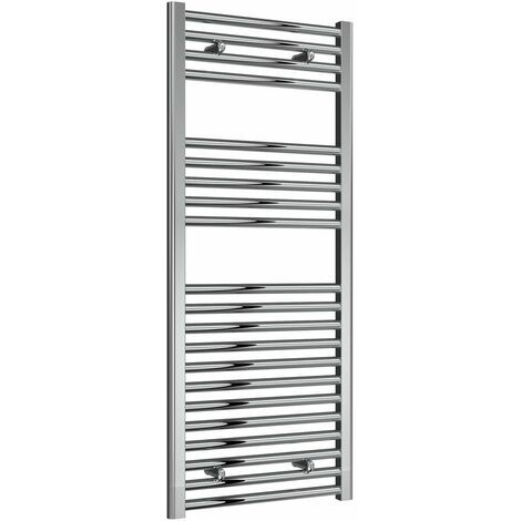 Reina Diva Thermostatic Electric Straight Heated Towel Rail 1200mm H x 500mm W Chrome