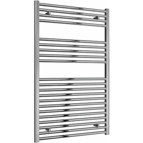Reina Diva Thermostatic Electric Straight Heated Towel Rail 1200mm H x 750mm W Chrome