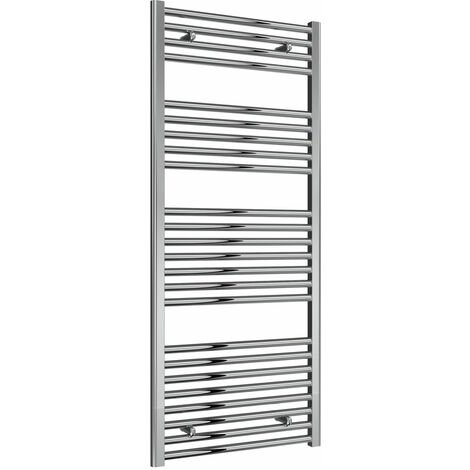 Reina Diva Thermostatic Electric Straight Heated Towel Rail 1400mm H x 600mm W Chrome