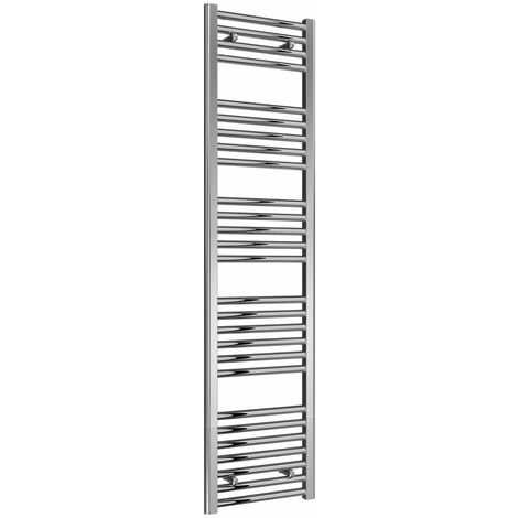 Reina Diva Thermostatic Electric Straight Heated Towel Rail 1600mm H x 400mm W Chrome