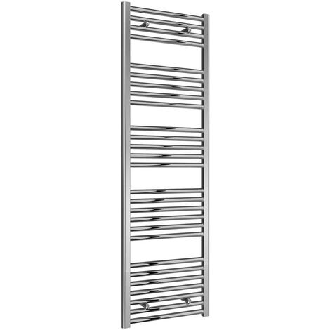 Reina Diva Thermostatic Electric Straight Heated Towel Rail 1600mm H x 600mm W Chrome