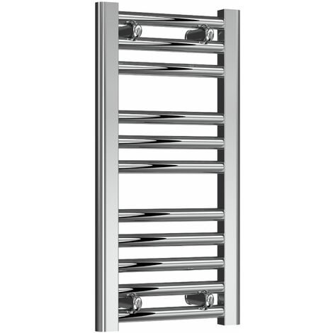Reina Diva Thermostatic Electric Straight Heated Towel Rail 600mm H x 300mm W Chrome