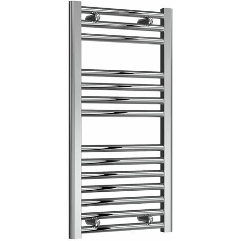 Reina Diva Thermostatic Electric Straight Heated Towel Rail 800mm H x 400mm W Chrome