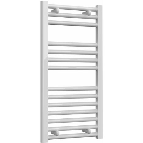 Reina Diva Thermostatic Electric Straight Heated Towel Rail 800mm H x 400mm W White