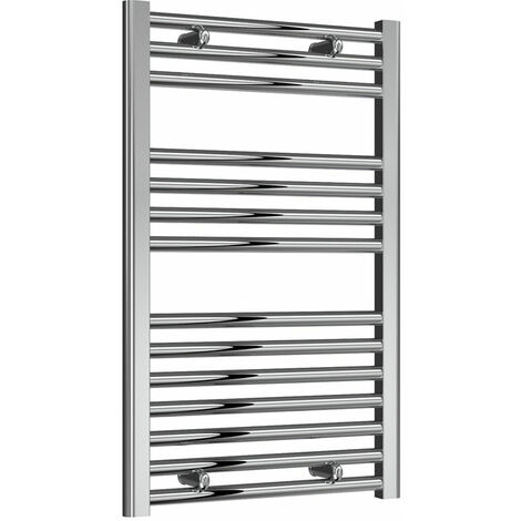Reina Diva Thermostatic Electric Straight Heated Towel Rail 800mm H x 500mm W Chrome