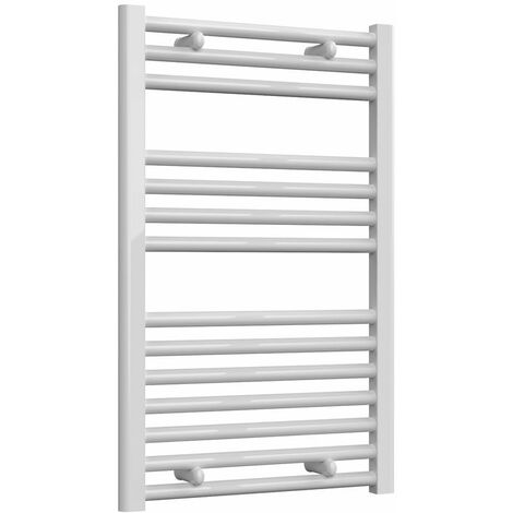 Reina Diva Thermostatic Electric Straight Heated Towel Rail 800mm H x 500mm W White