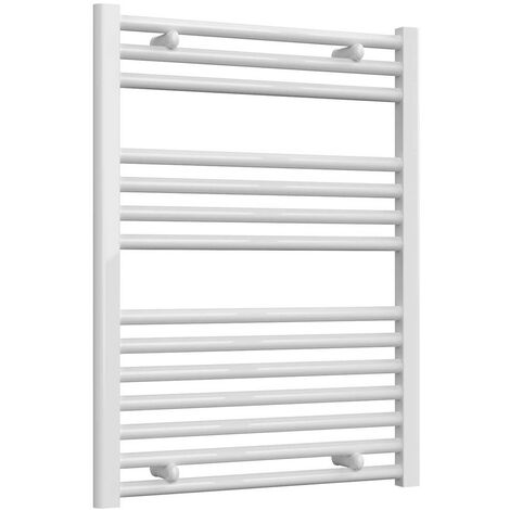 Reina Diva Thermostatic Electric Straight Heated Towel Rail 800mm H x 600mm W White