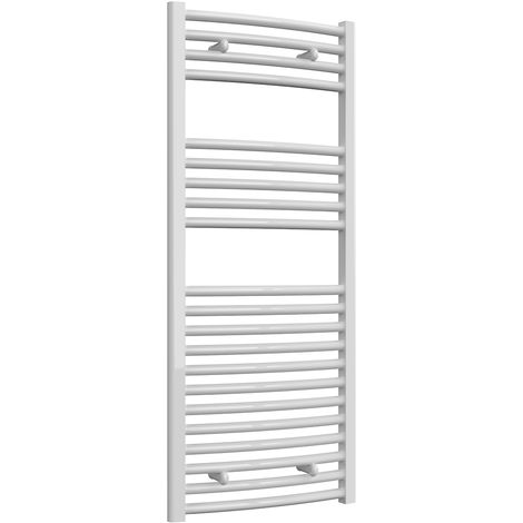 Reina Diva White Curved 25mm Ladder Heated Towel Rail 1200mm x 500mm Central Heating
