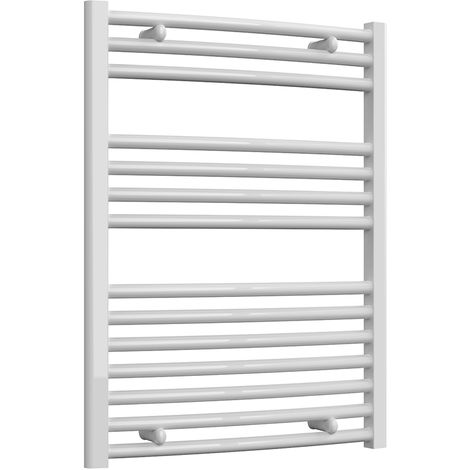 Reina Diva White Curved 25mm Ladder Heated Towel Rail 800mm x 600mm Central Heating