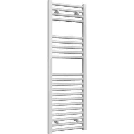 Reina Diva White Straight 25mm Ladder Heated Towel Rail 1200mm x 400mm Central Heating