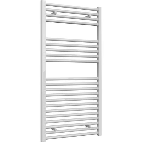 Reina Diva White Straight 25mm Ladder Heated Towel Rail 1200mm x 600mm Central Heating