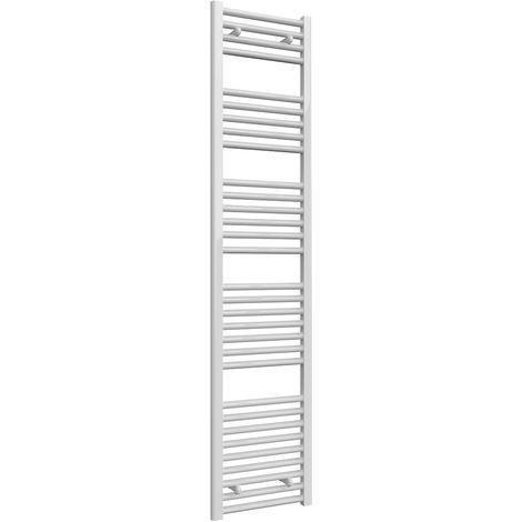 Reina Diva White Straight 25mm Ladder Heated Towel Rail 1800mm x 400mm Central Heating