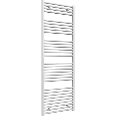 Reina Diva White Straight 25mm Ladder Heated Towel Rail 1800mm x 600mm Central Heating