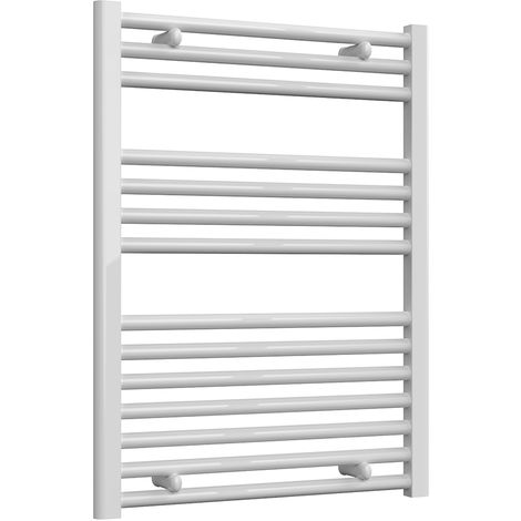 Reina Diva White Straight 25mm Ladder Heated Towel Rail 800mm x 600mm Central Heating