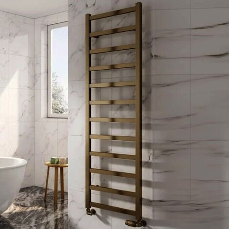 Reina Fano Designer Heated Towel Rail 720mm H x 485mm W Bronze Satin