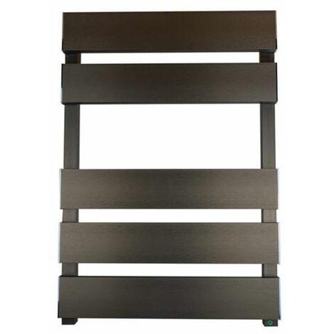 Reina Fermo Flat Panel Heated Towel Rail 1190mm H x 480mm W Bronze Satin
