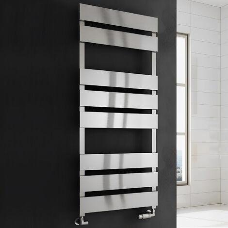 Reina Fermo Flat Panel Heated Towel Rail 1190mm H x 480mm W Satin