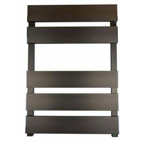 Reina Fermo Flat Panel Heated Towel Rail 1550mm H x 480mm W Bronze Satin