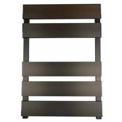 Reina Fermo Flat Panel Heated Towel Rail 710mm H x 480mm W Bronze Satin