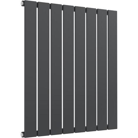 "main image of ""Reina Flat Steel Anthracite Horizontal Designer Radiator 600mm x 588mm Single Panel Electric Only - Standard"""