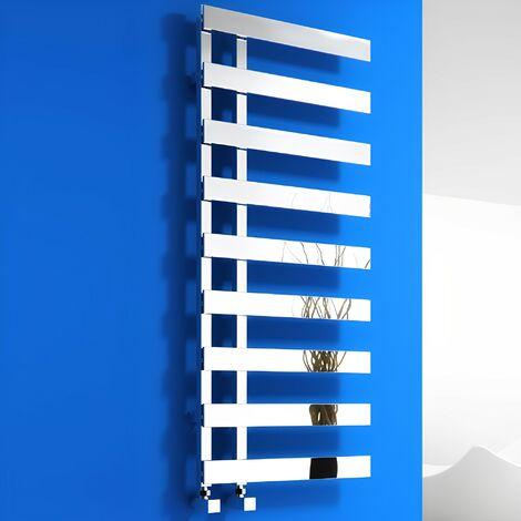 Reina Florina Designer Heated Towel Rail 1235mm H x 500mm W Chrome